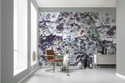 Shades Floral design wall mural wallpaper